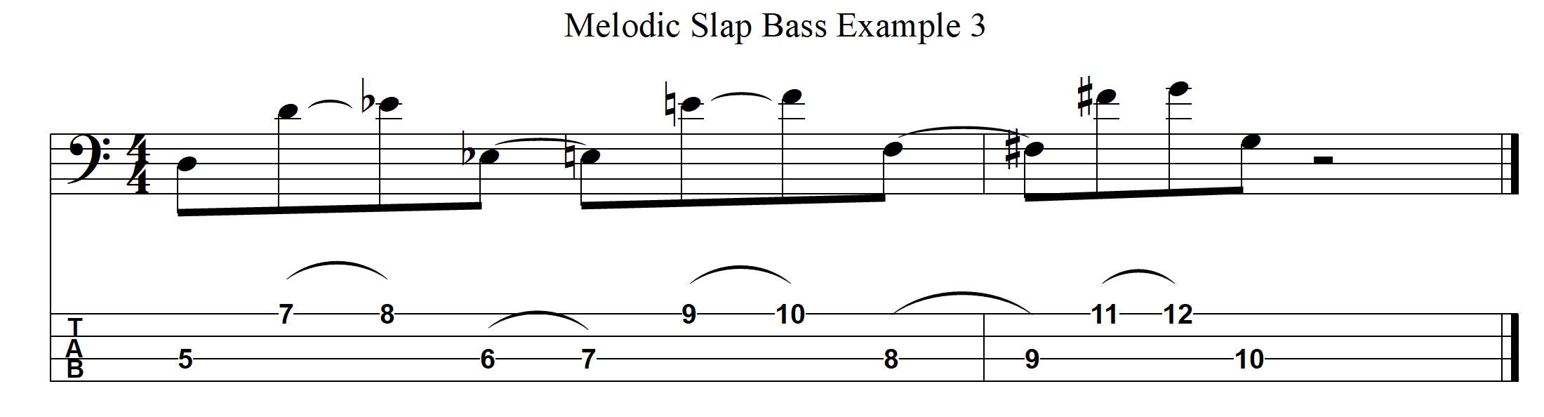 Melodic Slap Bass Example 3