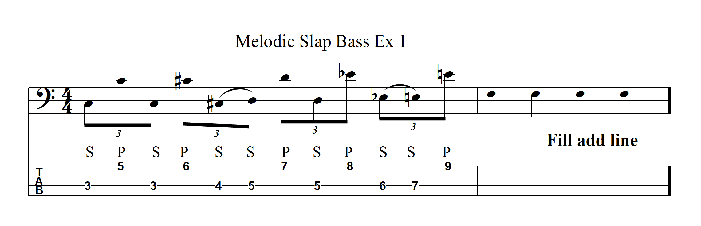 Melodic Slap Bass Example 1